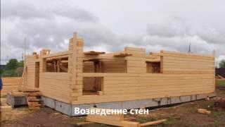 видео Сборка деревянного дома в теплый угол