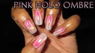 Pink Holo Ombre   DIY Nail Art Tutorial