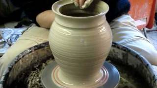 Download Making a clay pottery storage jar with lid on a potters wheel demo ingleton pottery how to