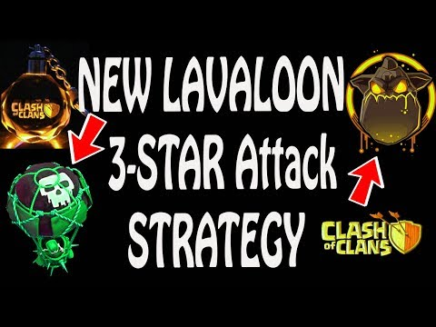 (HINDI) NEW Lavaloon 3-STAR attack strategy in clash of clans