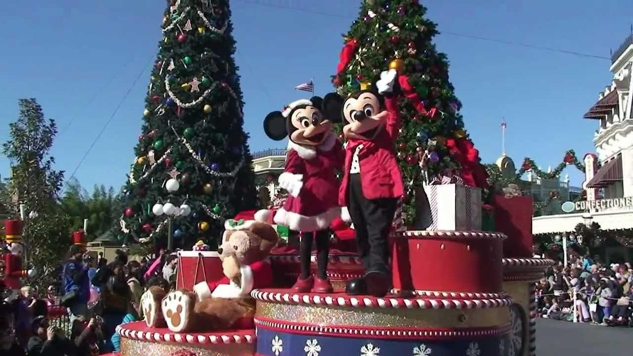 mickeys once upon a christmastime parade daytime version magic kingdom walt disney world youtube - Disneyworld At Christmas Time