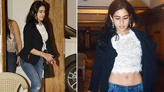 Sara Ali Khans hot look at step mom Kareenas 36th Birthday bash