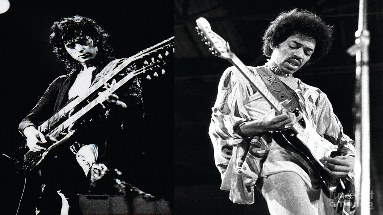 a comparison between jimi hendrix and jimmy page Two rock song comparison march 17, 2013 march 17, 2013  by elvis presley which was one of the greatest rock songs during the 1950's and another song purple haze by jimi hendrix which was one of the.