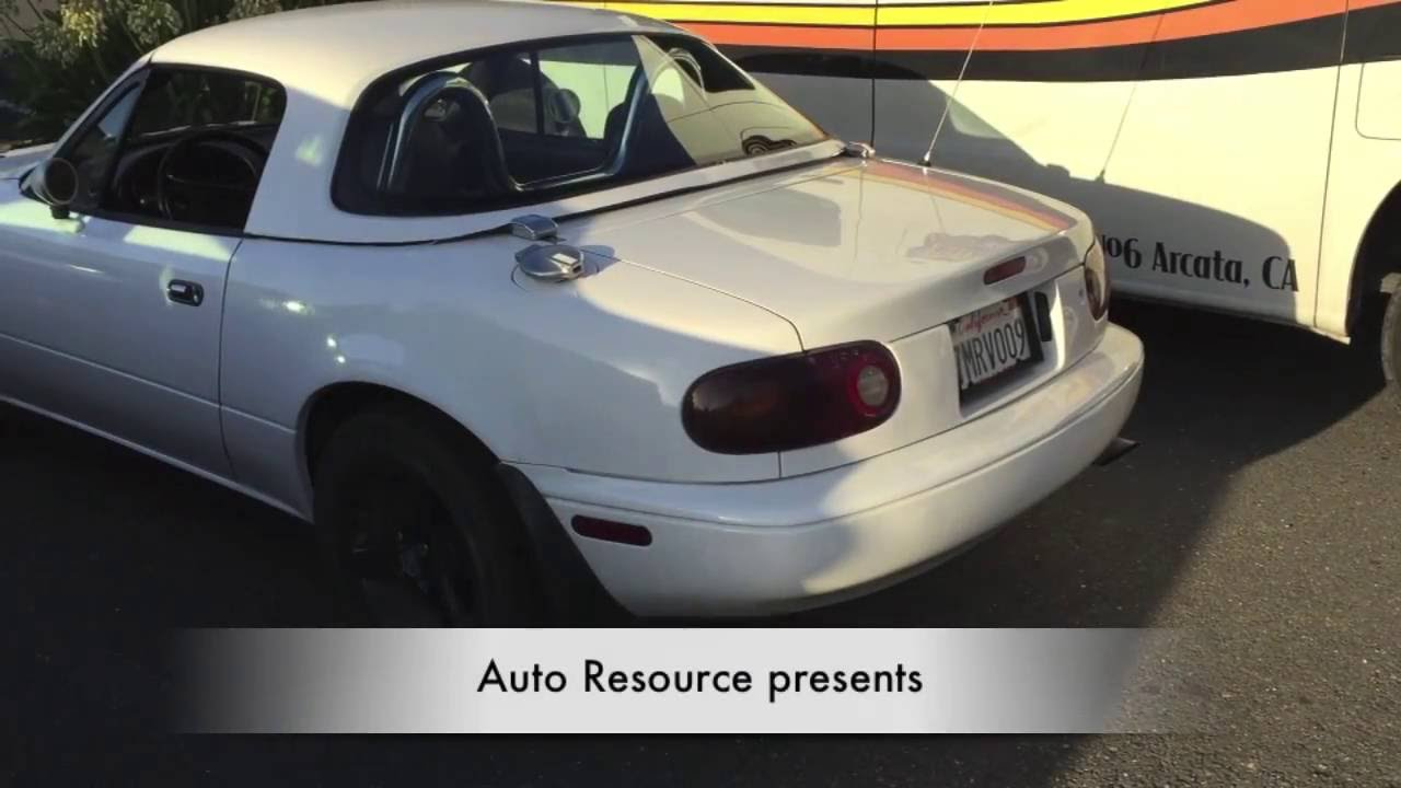 Cool Mazda Miata with Hardtop  YouTube