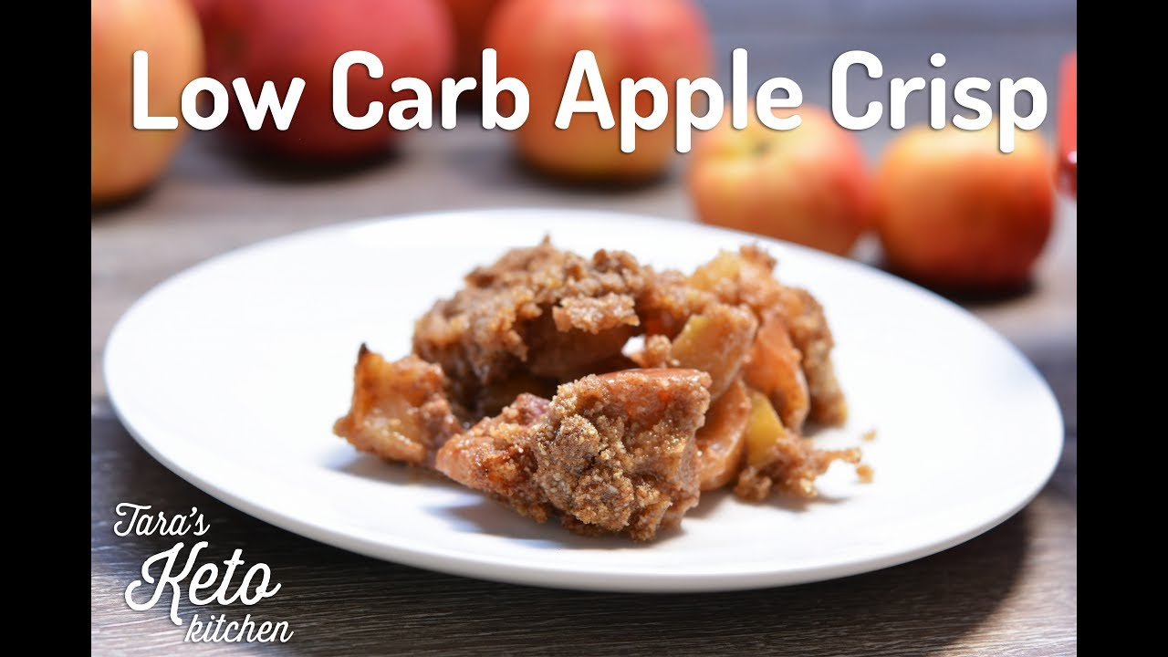 Low Carb Apple Crisp Grain Free No Added Sugars Gluten Free Youtube