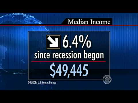 The CBS Evening News with Scott Pelley - U.S. median household income falls