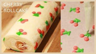 さくらんぼロールケーキの作り方/Cherry Rollcake Recipe/TAROROOM
