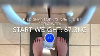 I tried ShanTokki's (샨토끼) diet for a week