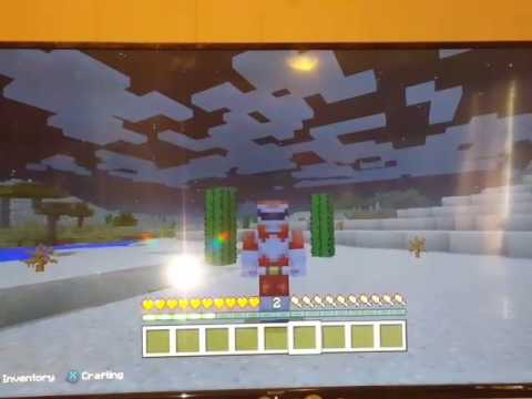 Playing Minecraft as the Red Power Ranger