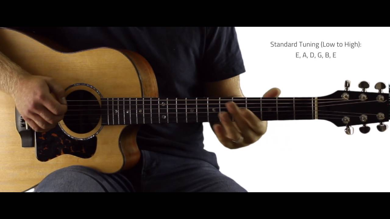 standard tuning on guitar by ear youtube. Black Bedroom Furniture Sets. Home Design Ideas