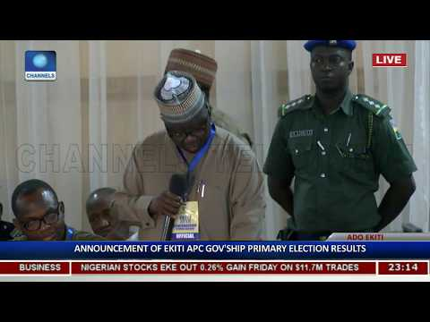 Al-Makura Announces Ekiti APC Gov'ship Primary Election Results Pt.2