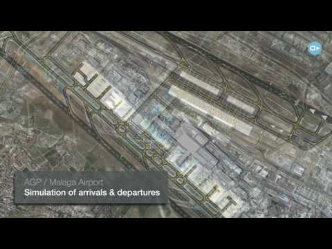 Real time airport simulation