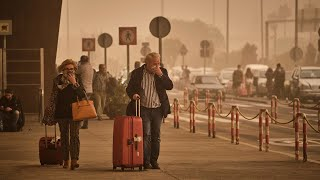 video: Holidaymakers stranded after Saharan dust clouds wreak havoc in Canary Islands