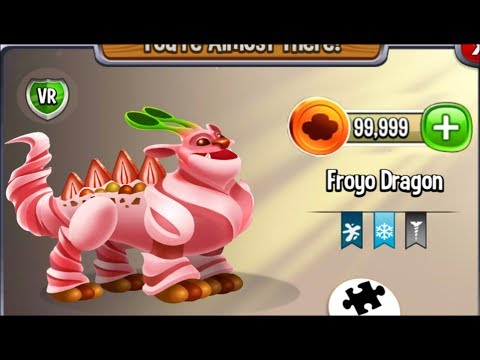 Dragon City - Froyo Dragon [Summer Island   Full Reveal with Map 2017]
