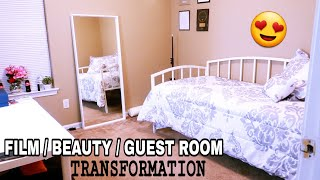 DIY ROOM TRANSFORMATION | NEW Filming/Guest/Beauty before + after