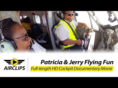 CHARMING Pilot Patricia: Solomons Dash 6 Twin Otter Ultimate Cockpit Movie [AirClips PARADISE BIRDS]