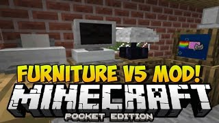 FURNITURE V5 PARA MINECRAFT PE 0.14.0 | Mods Para Minecraft PE 0.14.0
