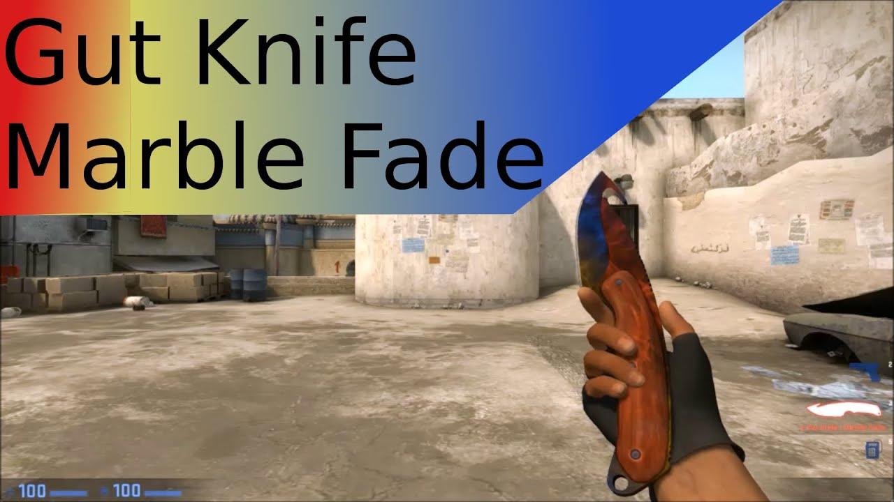 cs go gut knife marble fade showcase youtube