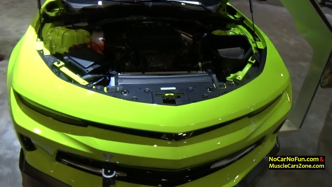 Toxic Green Red And Custom Color Zl1 2017 Chevy Camaros 2016 Sema Show In Las Vegas