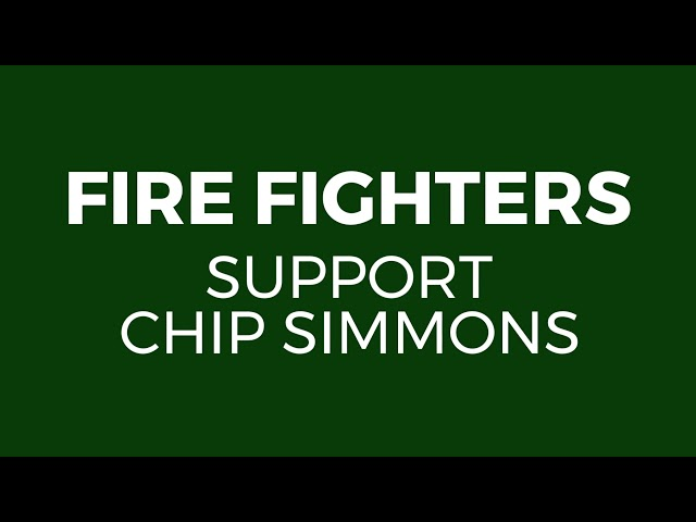 Firefighters Support Chip Simmons