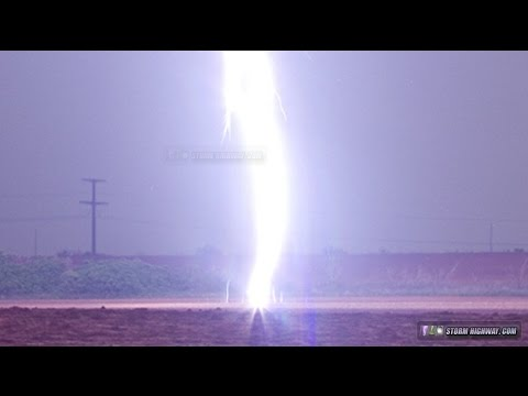 Incredible CLOSE lightning bolt with upward ground leaders! Video and still image & Incredible CLOSE lightning bolt with upward ground leaders! Video ...