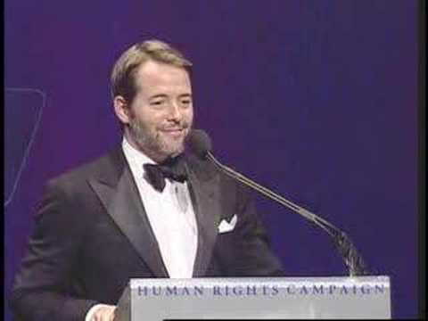 Matthew Broderick Speaking at HRC National Dinner - YouTube