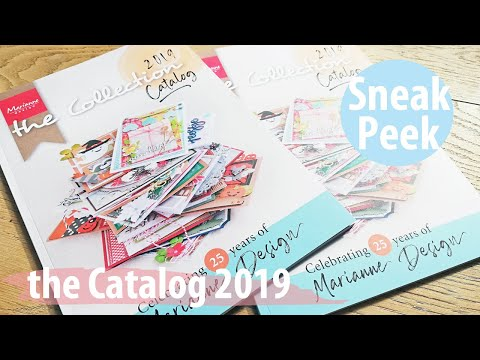 Marianne Design Sneak Peek | Flip through the new Catalog of 2019! | Cardmaking