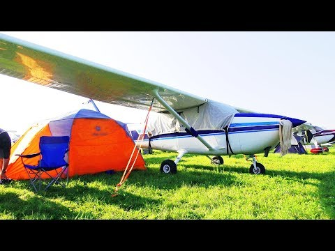 Camping at the World's BUSIEST AIRPORT (PART 1 - Oshkosh 201