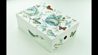 Decoupage paper mache box - Decoupage Tutorial - DIY - Do It Yourself