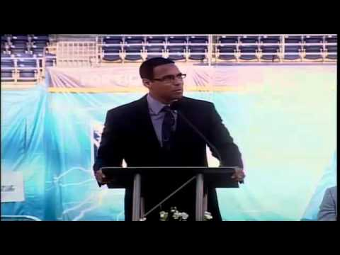 "Rock Church KFMB News 8 - ""Miles McPherson at Junior Seau Celebration of Life"""