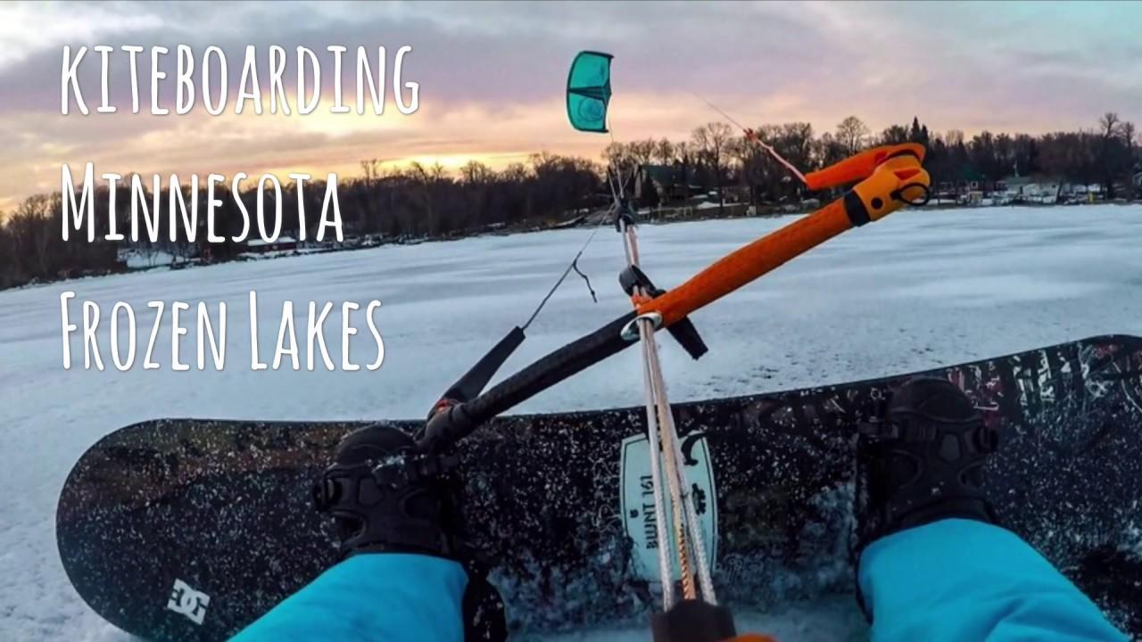 Kiteboarding Big Cormorant Lake Minnesota