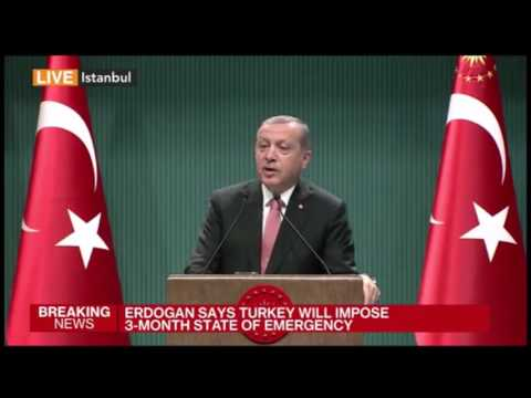 Erdogan (Turkey) declares the Galactic Empire and the end of the republic