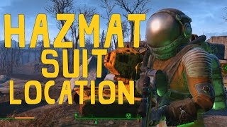 Fallout 4: Unique/Rare Armour - Hazmat Suit! (Location)