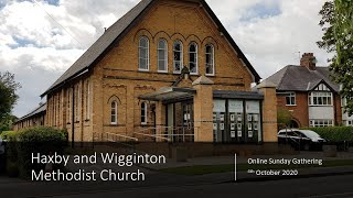 Sunday Gathering - 4th October 2020