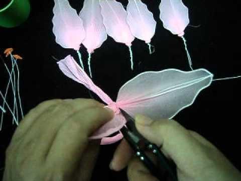 cách làm hoa lyly bằng vải voan