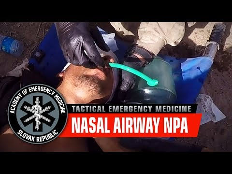 Nasal airway - NPA / War in Iraq, Mosul offensive (Graphic content)