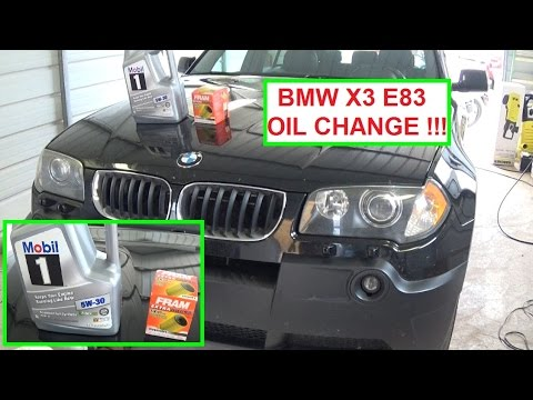 bmw x3 e83 oil change how to change the oil on a bmw x3 2