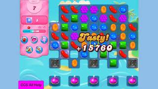 Candy Crush Saga Level 2411 19 moves NO BOOSTERS Cookie