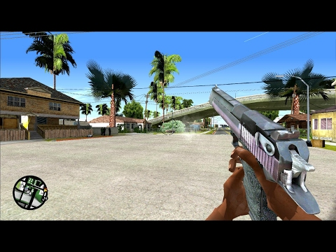 GTA San Andreas (PC) - All Weapons in First Person Mode
