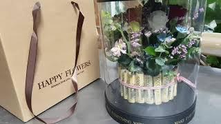 백만원 용돈꽃케잌  회갑. 칠순 이벤트. 꽃선물 돈꽃케…
