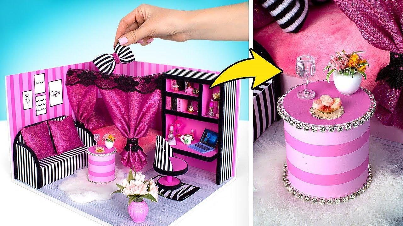 DIY  Un Adorable Dormitorio en Miniatura  Estilo Victoria's Secret