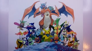 Time Lapse Drawing - The Starters from