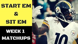 NFL Week 1 Start Em and Sit Em Matchups | Fantasy Football 2017