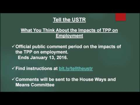 Send comments on #TPP to #USTR now - Margaret Flowers