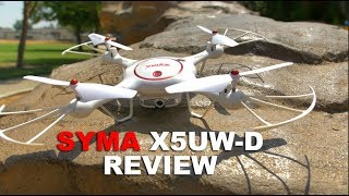 Syma X5UW-D Real Time FPV Camera Drone Review