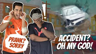 I BROKE MY FRIENDS CAR😳|ACCIDENT😰|PRANK😓|Anirudh Sharma