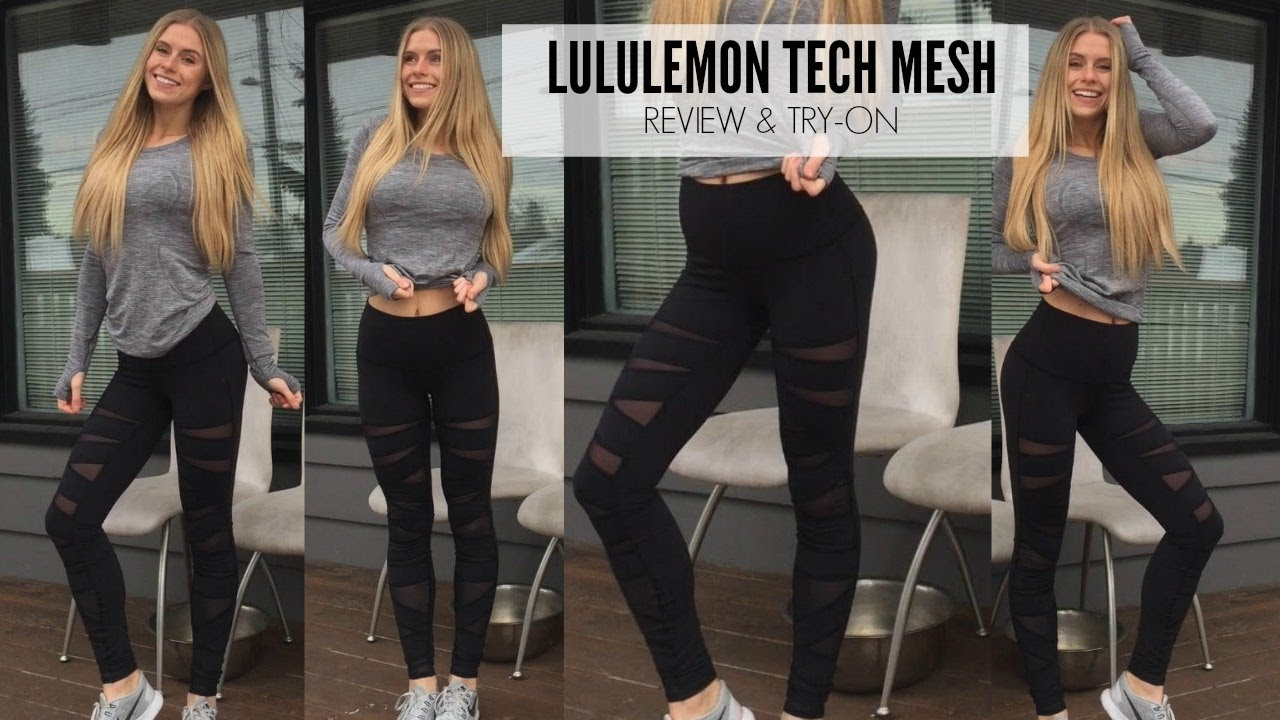 8158d0717 Lululemon Mesh Tech Review   Try on - YouTube