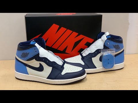 """air-jordan-1-obsidian-""""unc""""-unboxing-and-review"""