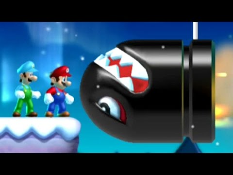 New Super Mario Bros. U - 100% Walkthrough (2 Player) - World 4: Frosted Glacier