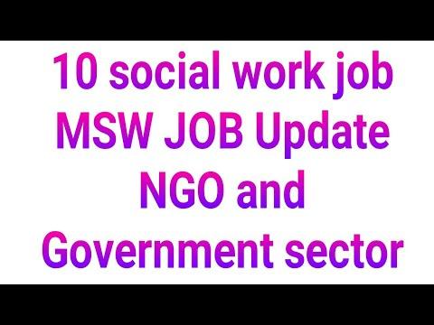 MSW JOB 2019 || NGO Job || Social Work 10 Job Update